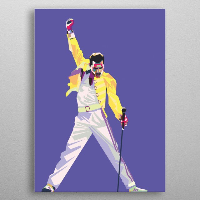 Freddie Mercury was a British singer-songwriter and record producer, best known as the lead vocalist of the rock band Queen metal poster