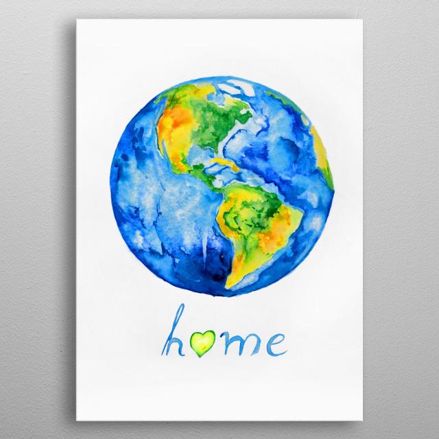Home metal poster