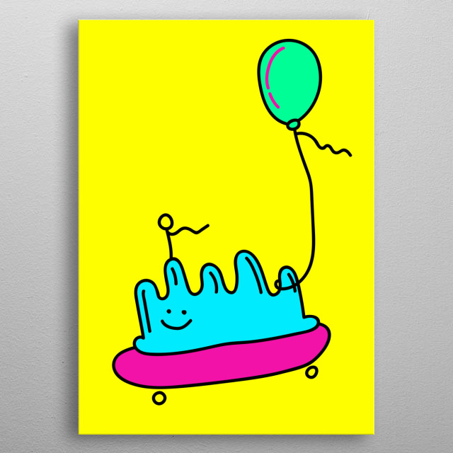 Jelly Blob metal poster