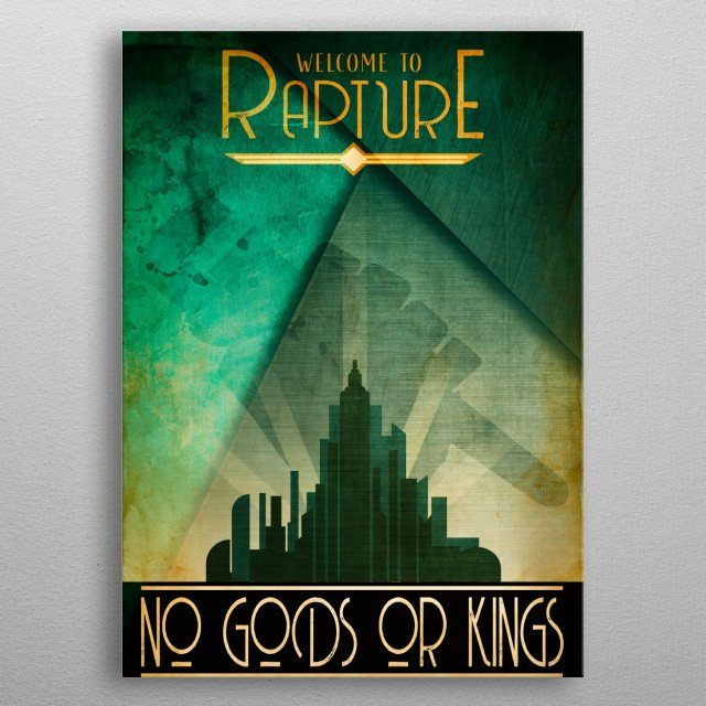 My Rapture from the Bioshock series  metal poster