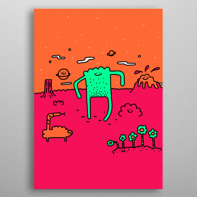 High-quality metal print from amazing Happy Collection collection will bring unique style to your space and will show off your personality. metal poster
