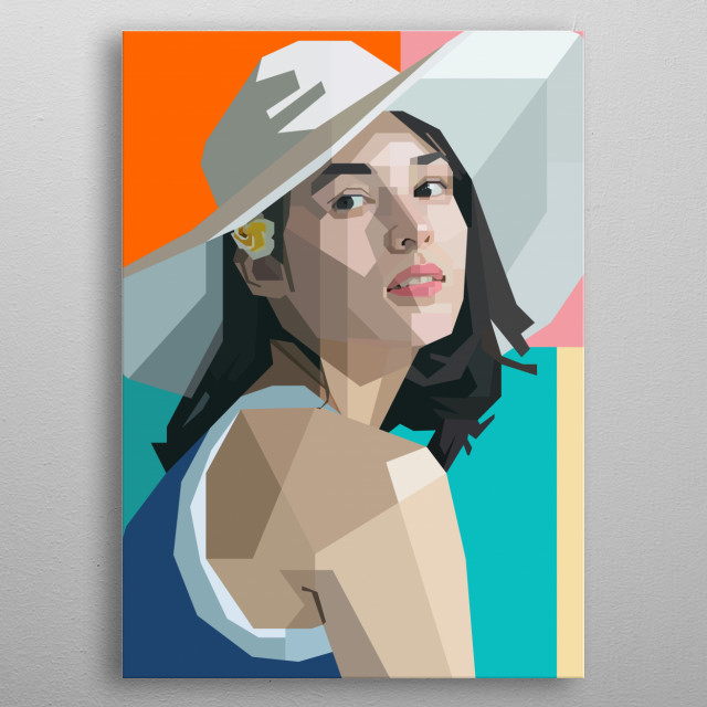 This artwork is inspired by Indonesian young talented actress, Chelsea Elizabeth Islan metal poster