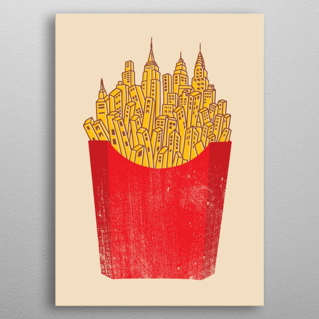 Potatoes rule the city! metal poster