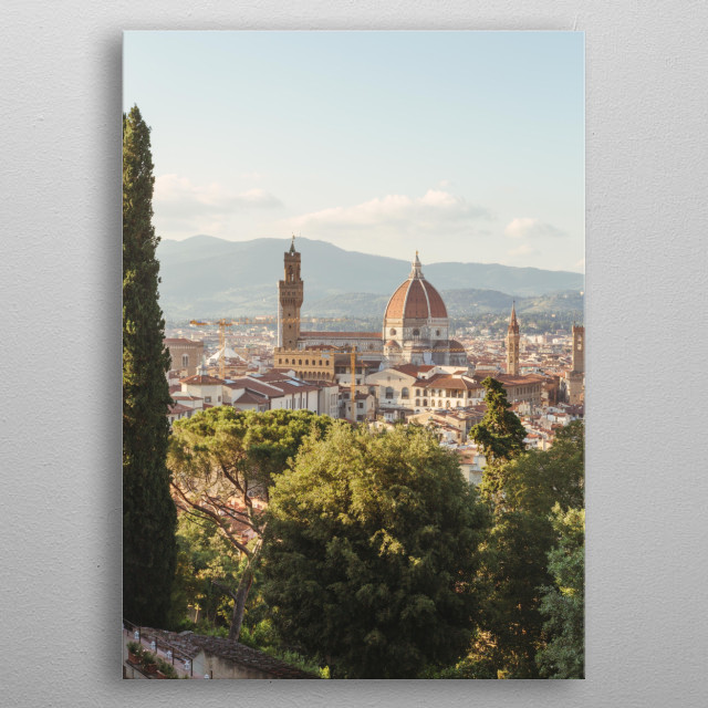 The dome of the Cathedral in Florence, Italy. metal poster
