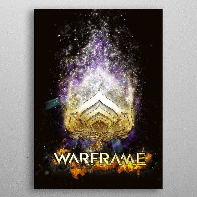 Design I made for the Warframe tee-shirt competition. metal poster