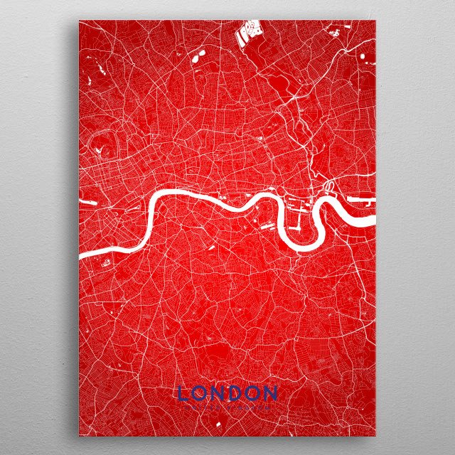 London map (flag colors edition) metal poster