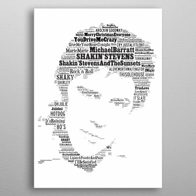 Shakin Stevens - a tribute to the biggest selling solo star in the UK in the 80's metal poster