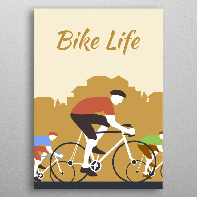Inspired by bikecycle tours all over the world metal poster