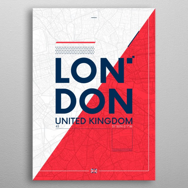London, the capital of England and the United Kingdom, is a 21st-century city with history stretching back to Roman times. metal poster