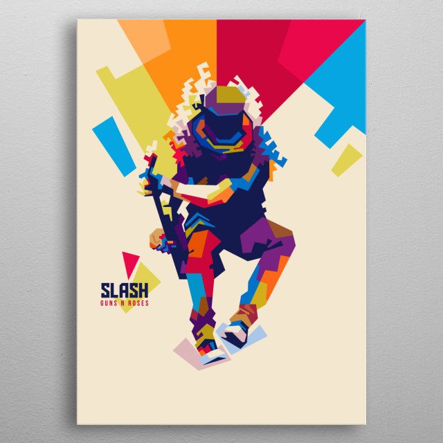 Slash in Pop Art metal poster