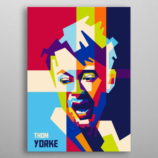 Thom Yorke in Pop Art metal poster