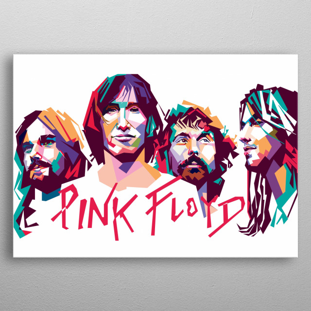 Pink Floyd were an English rock band formed in London in 1965 metal poster