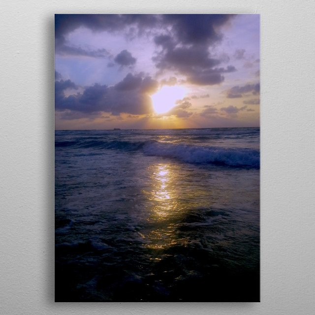 Photograph of Seascape sunrise metal poster