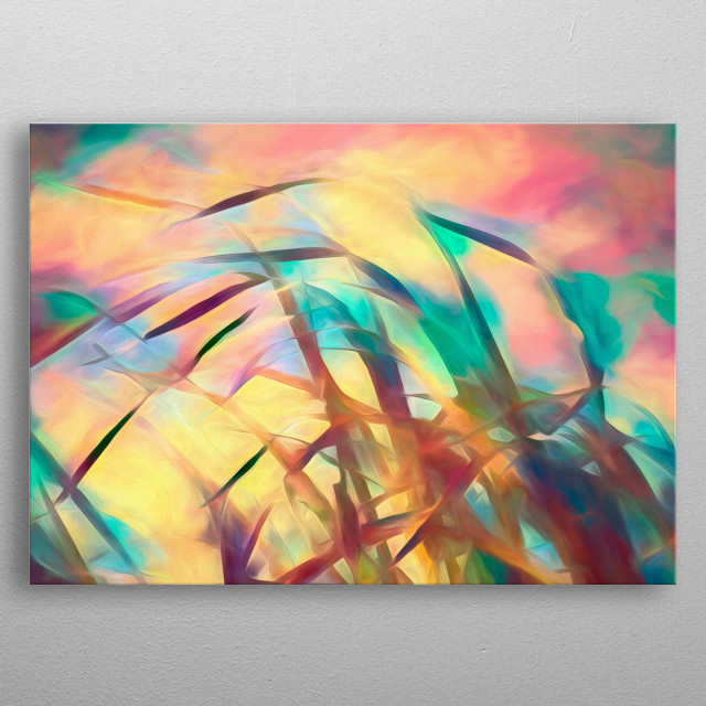 Down by the sea is the second painting in the series Summer Breeze. Creating an endless summer of color and cool winds metal poster
