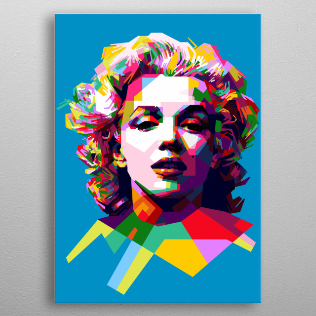 Marilyn Monroe was an American actress, model, and singer metal poster