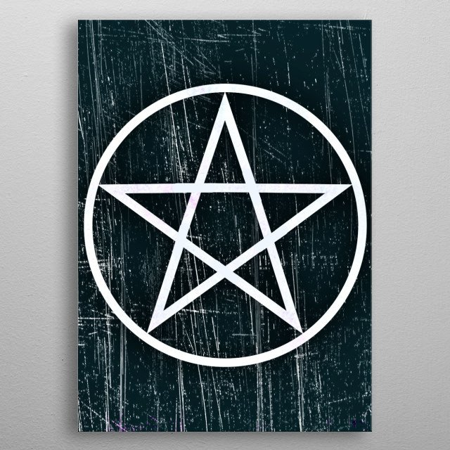 inspired by Supernatural's used of the pentagram in the show, a symbol the people see only evil of the actual good. metal poster