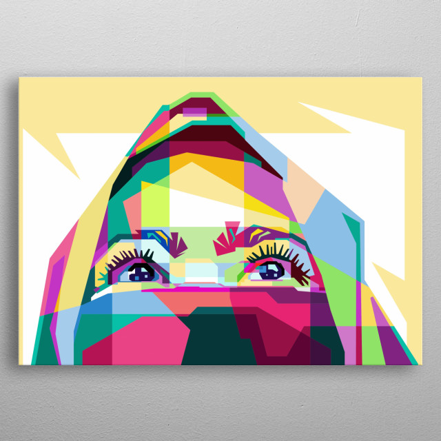 Hijab Pop Art in Awesome Collor metal poster