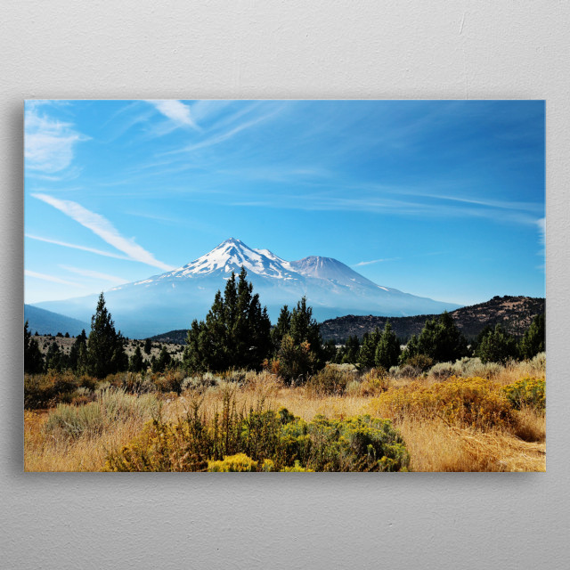 View of Mt Shasta in northern California  metal poster