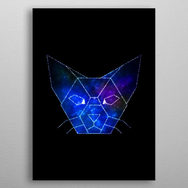 Cat dream metal poster