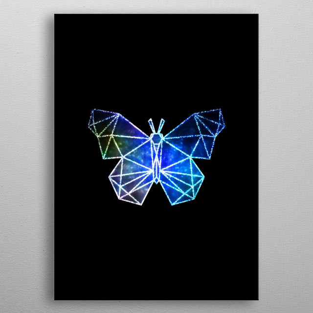 Butterfly dream metal poster