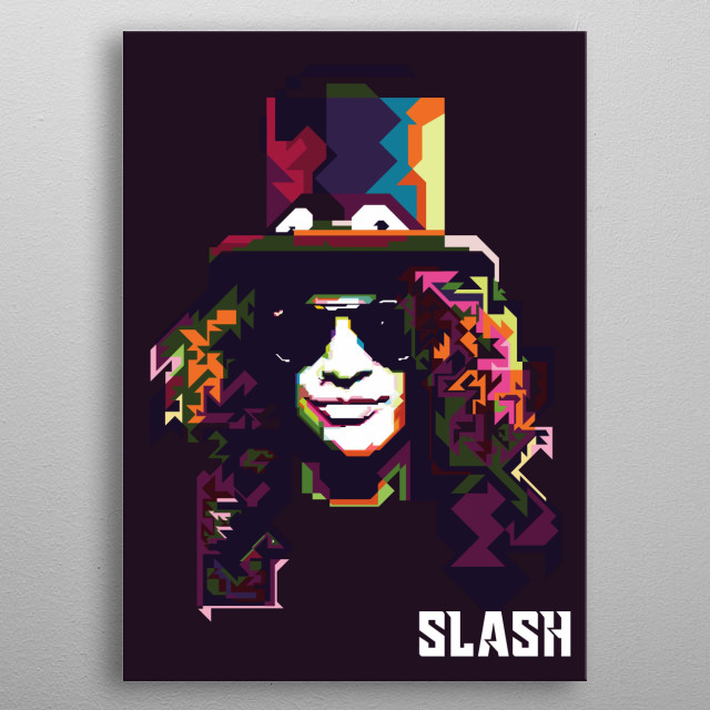 Slash in Weda Pop Art Portrait 45 style illustration metal poster