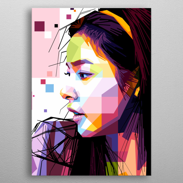 Portrait of Min Hyo Rin. metal poster
