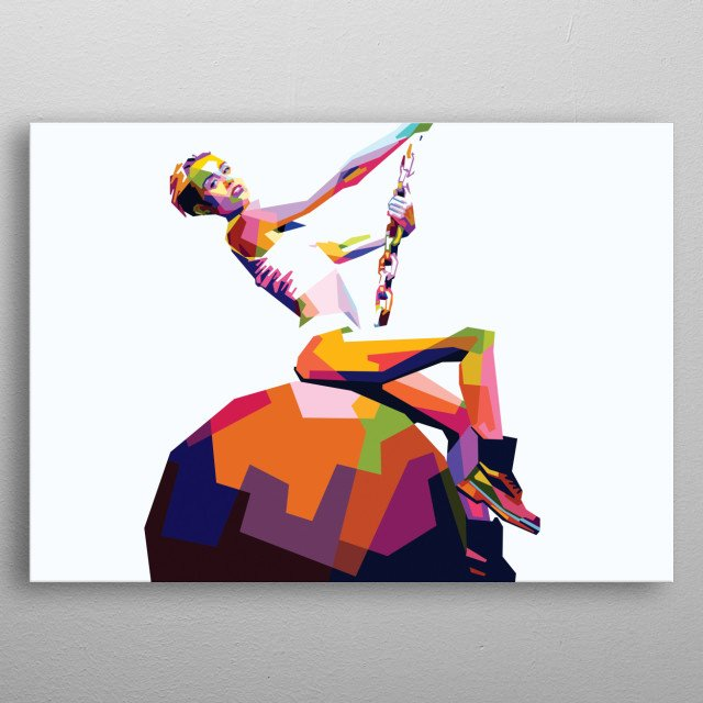 Portrait of Miley Cyrus. metal poster