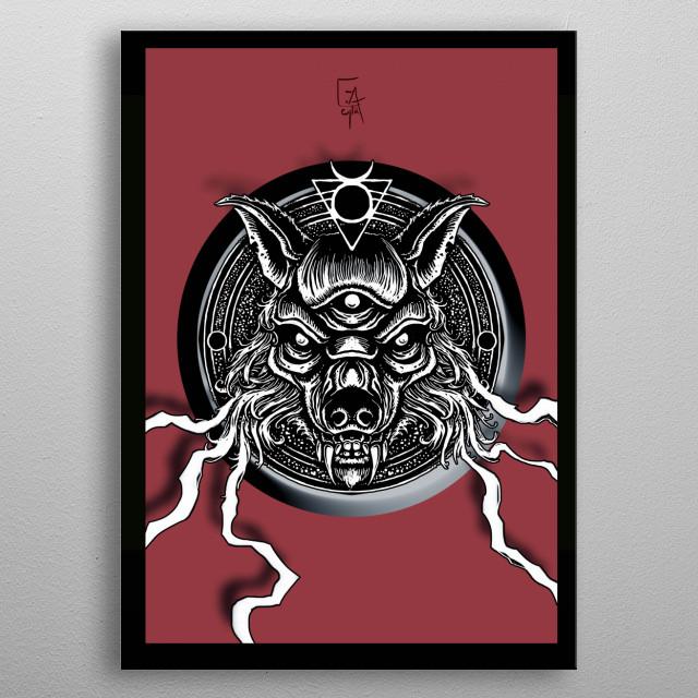Big bad Wolfie metal poster
