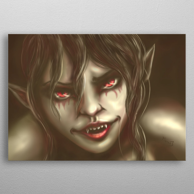 Digital art  I have her on my business card. metal poster