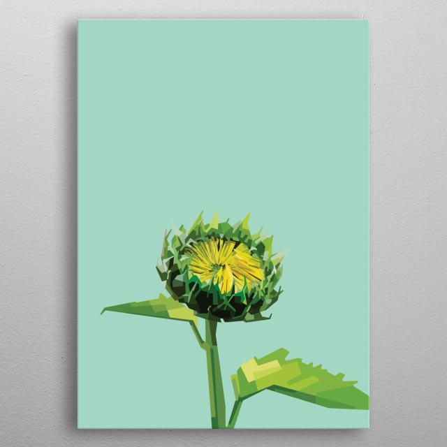 Sunflower. metal poster