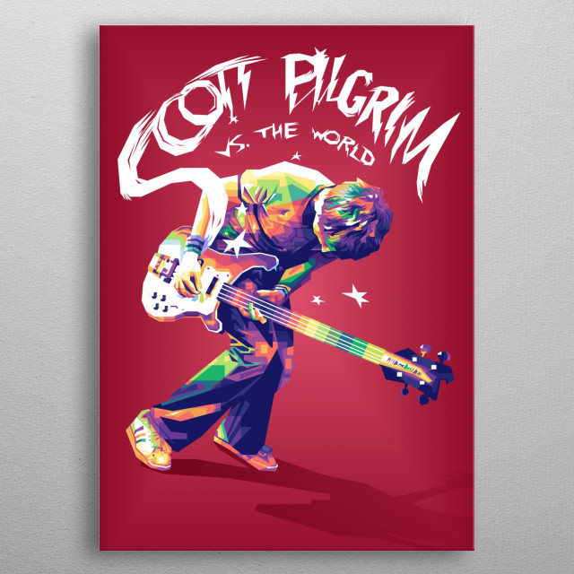 As bass guitarist for a garage-rock band, Scott Pilgrim (Michael Cera) has never had trouble getting a girlfriend. metal poster