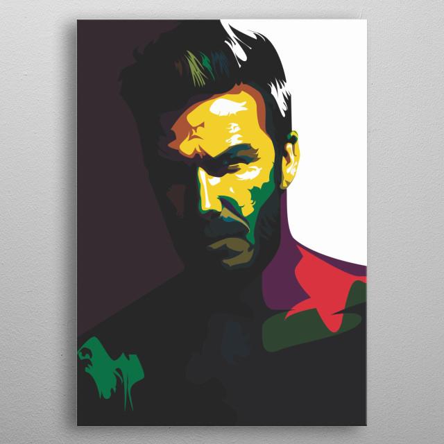 David Beckham in vector pop art metal poster