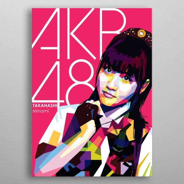 Portrait of Takahashi Minami  metal poster