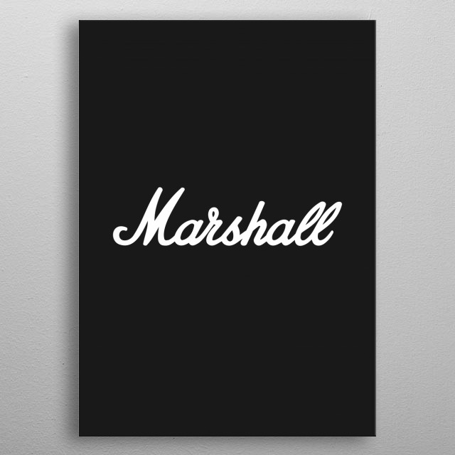 Marshall Guitar Art metal poster