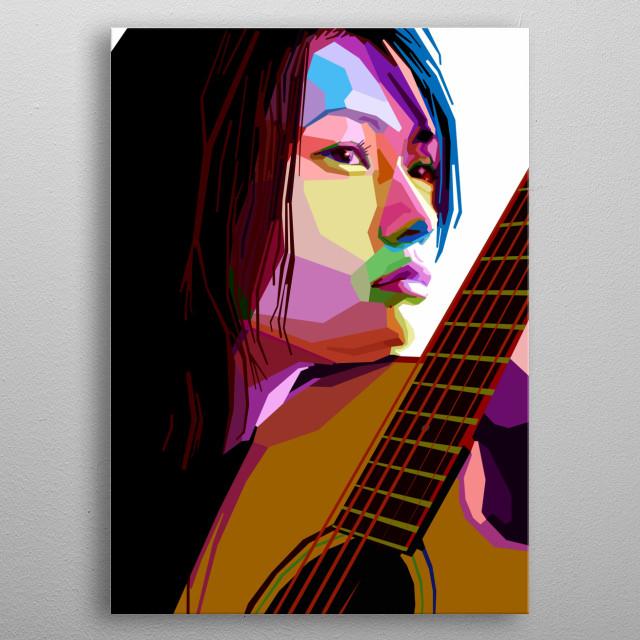 Portrait of YUI. metal poster
