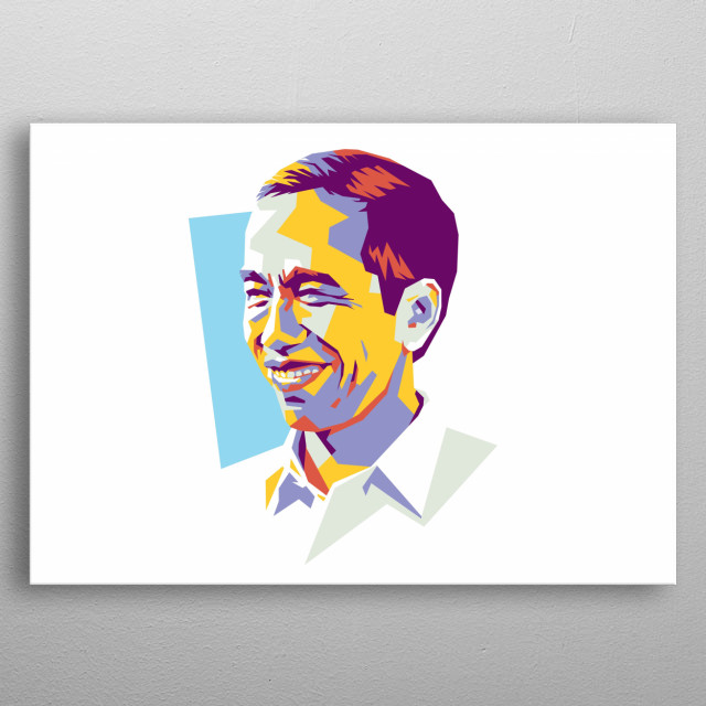 Ir. H. Joko Widodo (Jokowi) is the 7th President of Republic of Indonesia metal poster