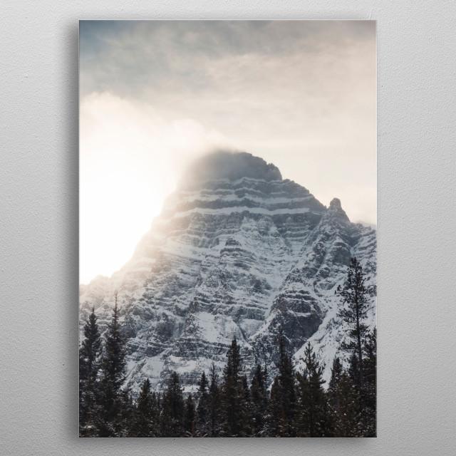 Mt. Chephren Winter Sunset metal poster