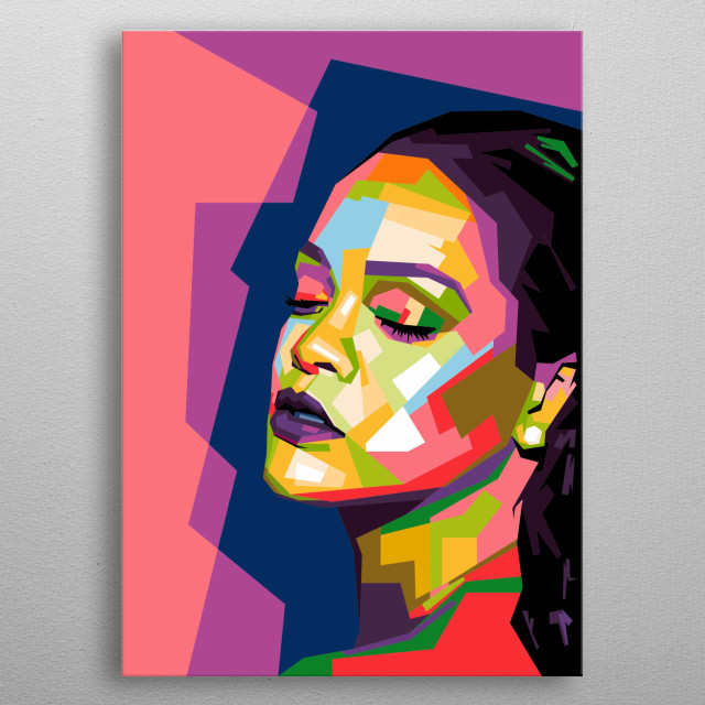 Robyn Rihanna Fenty (born 20 February 1988) is a Barbadian singer, songwriter, and actress. Rihanna in wpap metal poster