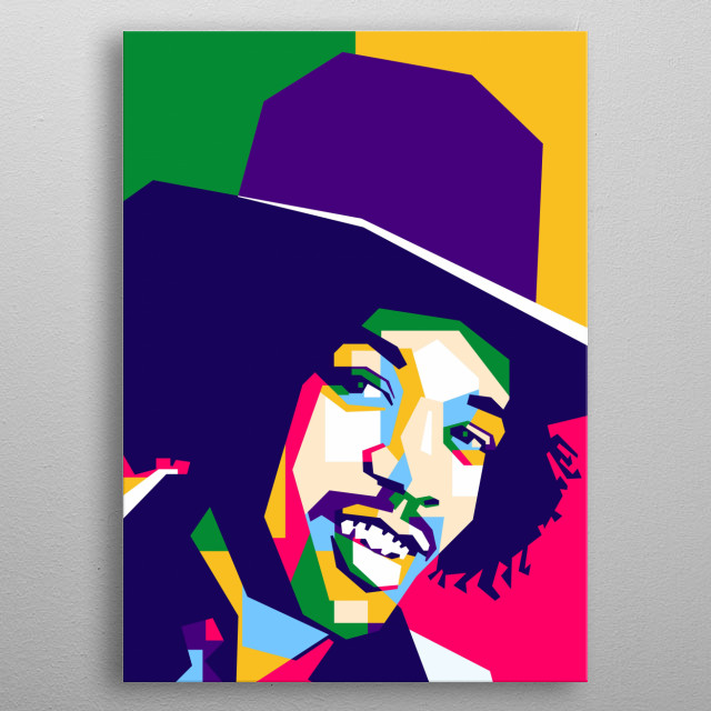 Jimi Hendrix is ??an American musician, singer, songwriter, guitarist and cultural figure. metal poster