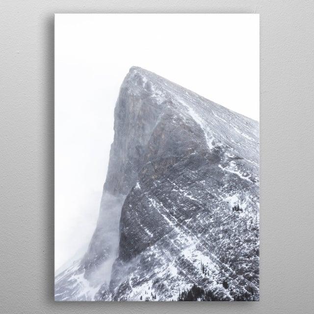 Haling Peak Winter metal poster