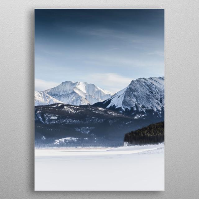Abraham Lake Winter metal poster