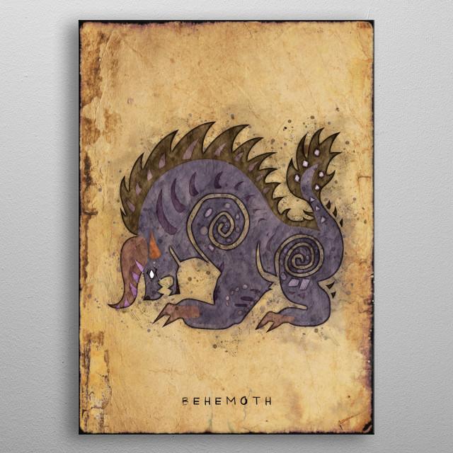 Monster Hunter World - Behemoth Hunter's Notes Poster metal poster
