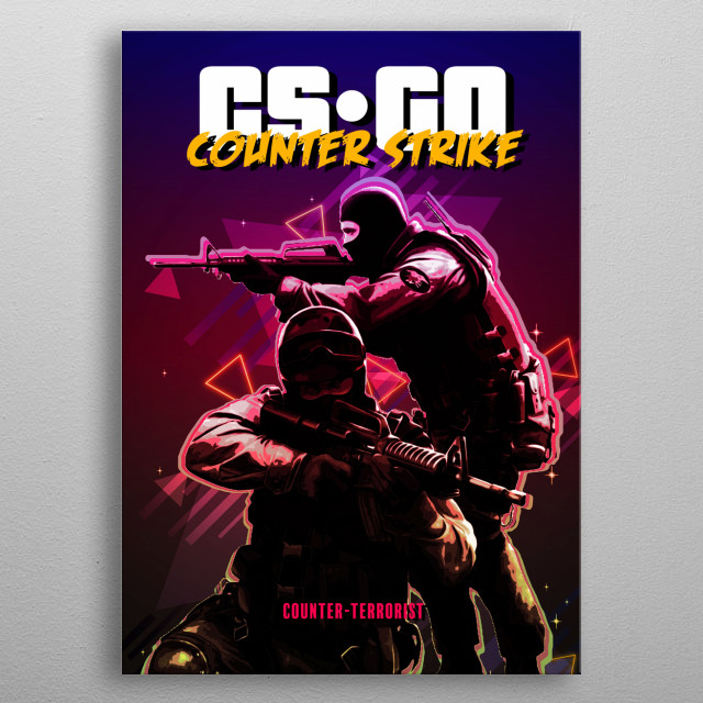 CS GO Counter Strike retro metal poster