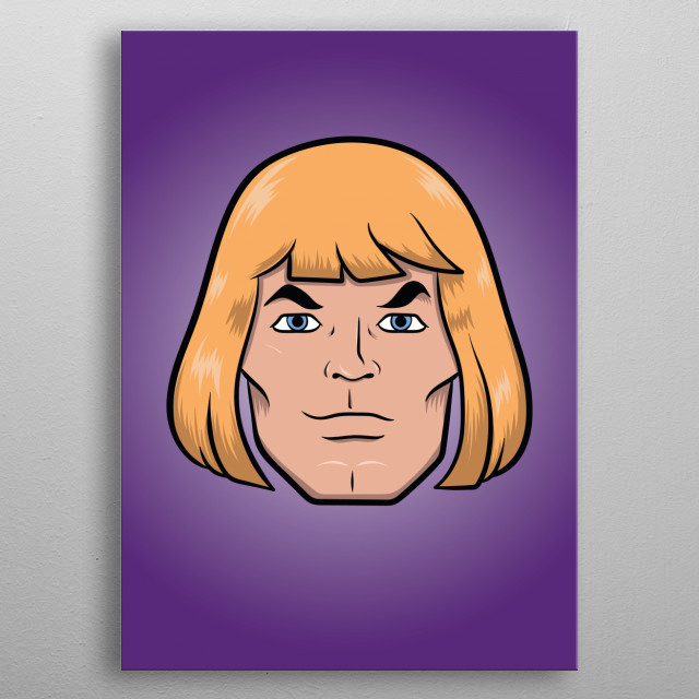 Tattoo style illustration inspired by He-man and The Masters Of The Universe metal poster