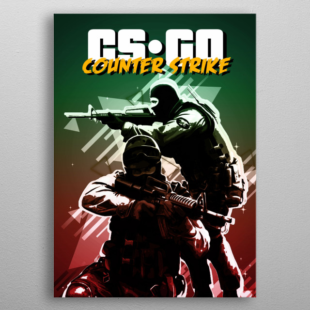 CS GO Counter Strike retro metal poster