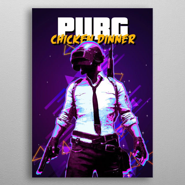 PUBG retro metal poster