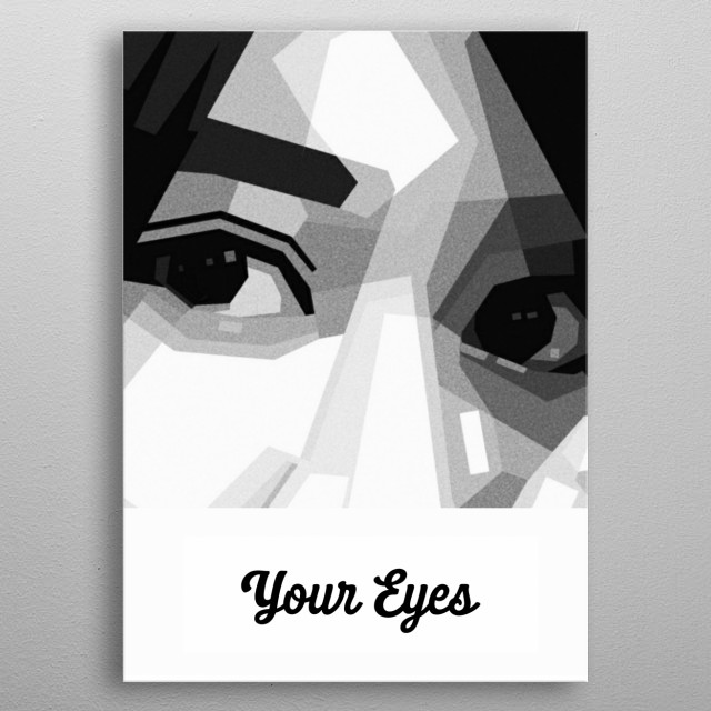 grayscale metal poster