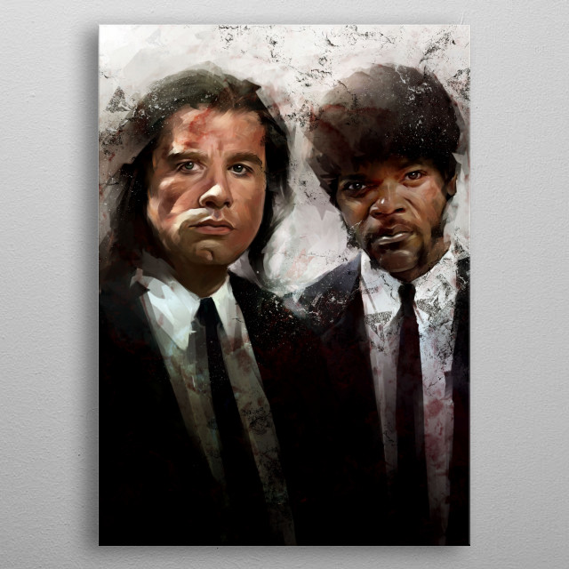 Vincent and Jules metal poster