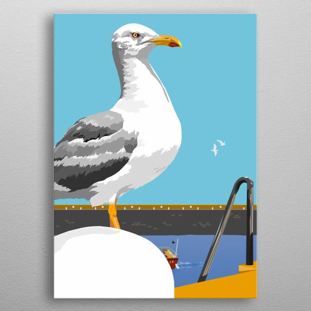 They steal your chips and love the seaside metal poster