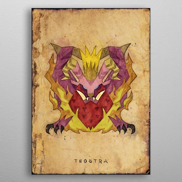 Monster Hunter World - Teostra Hunter's Notes Poster. metal poster